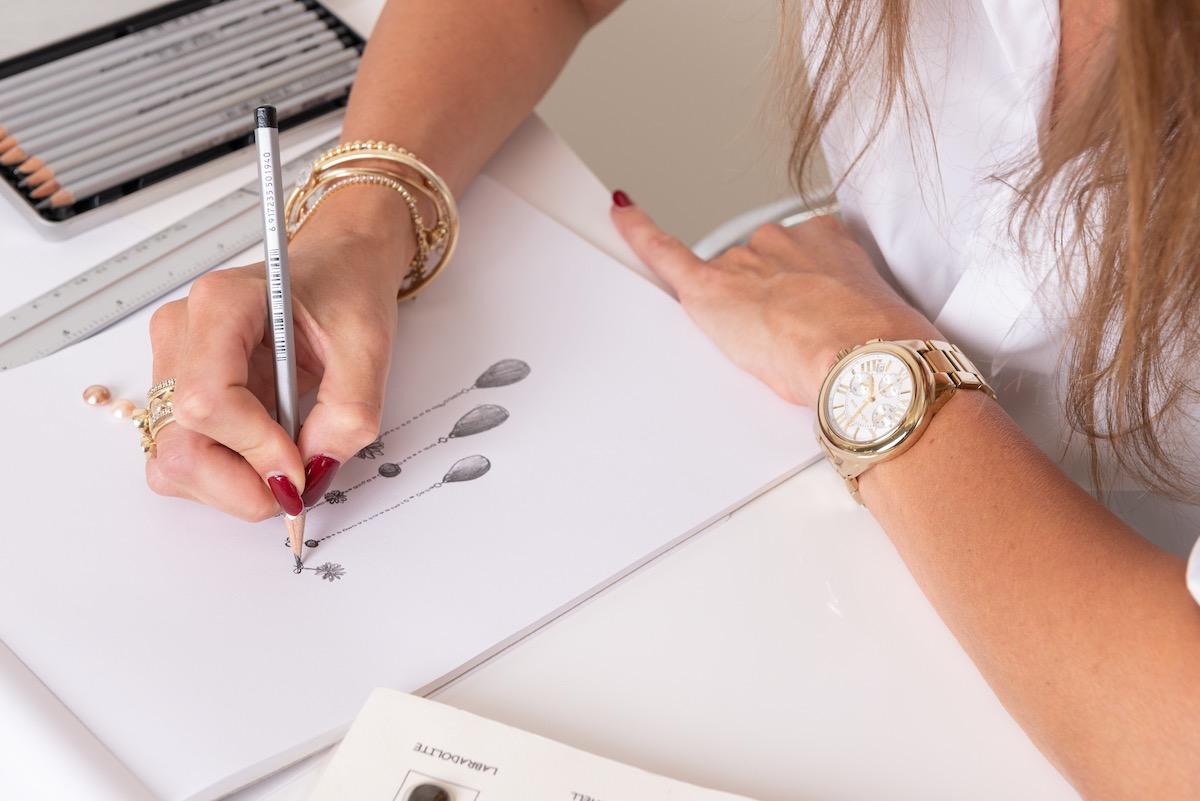 schets voor design your line casa Jewelry